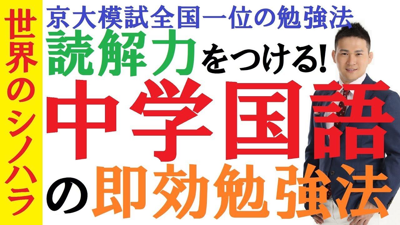 【中学生必見】京大模試全国一位の「中学国語」勉強法~読解 ...