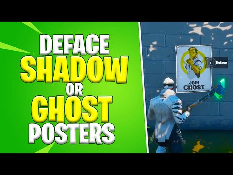 Deface GHOST or SHADOW Posters *Shortest Location Guide* | Fortnite Season 2