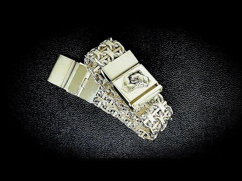 Массивный 4х Рядный Якорный Серебряный Браслет. Серебро 925 пробы#MatsonJewellery