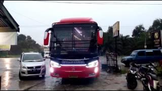Take off bus HALMAHERA SR-2 Pangkalan kerinci