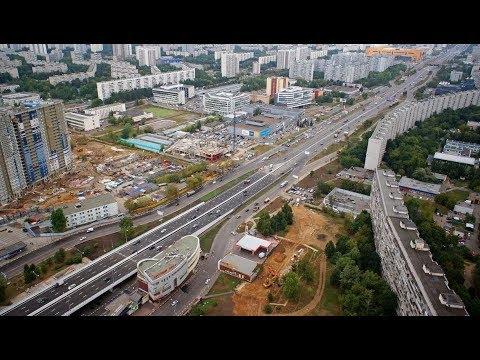 Москва - Самая ДЛИННАЯ улица в Москве - 22.5 км! Поездка на машине!