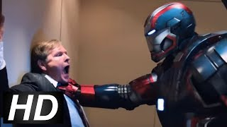 Iron Man 3 - Fake Mandarin Scene | Kidnapping The President Scene