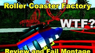 Roller Coaster Factory: WORST ROLLERCOASTER SIMULATOR GAME EVER?!?! Review and Fail Montage