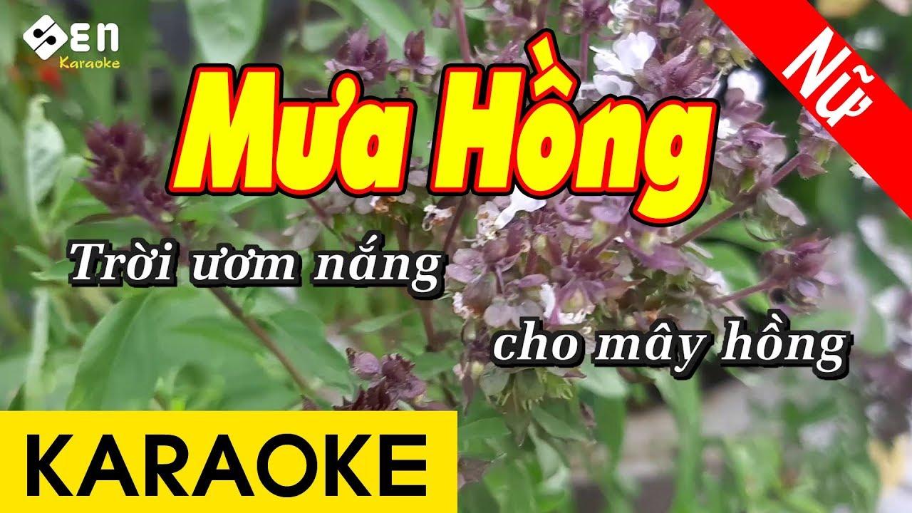 [KARAOKE] Mưa Hồng | Tone Nữ