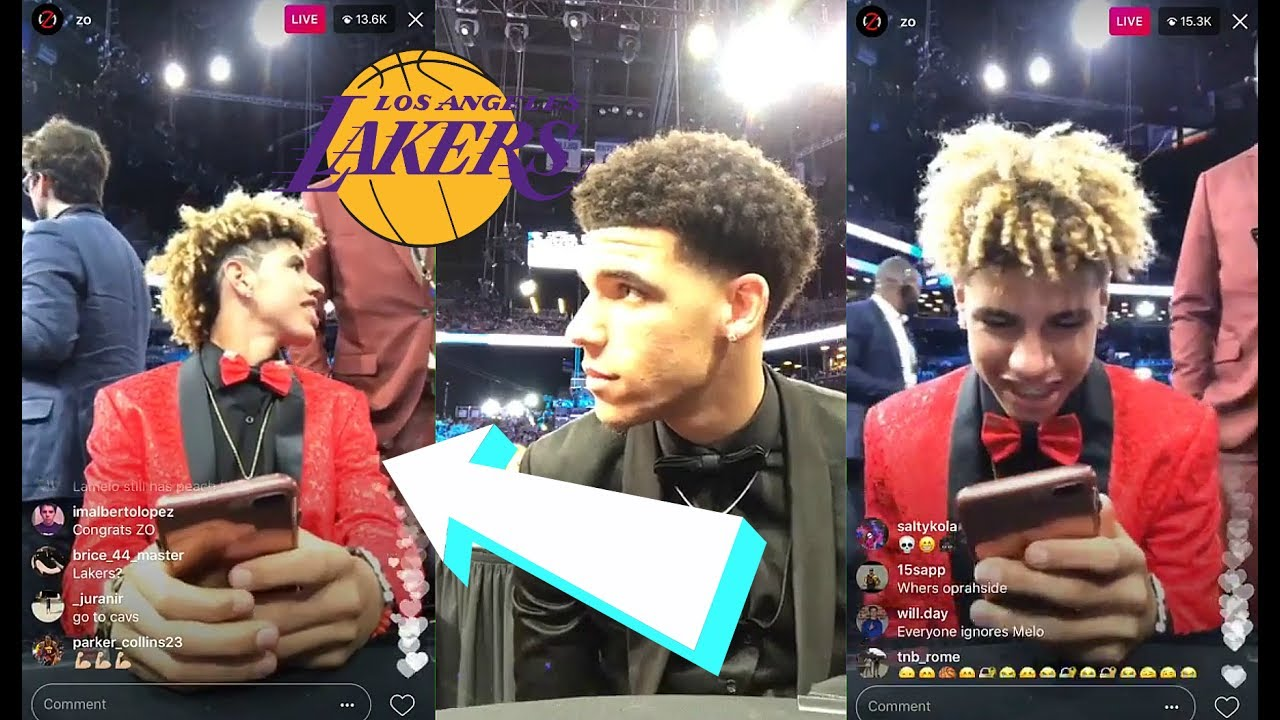 Lonzo Ball Lamelo Ball >> LaMelo Ball Gets ROASTED On Instagram Live Stream At NBA Draft - YouTube