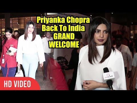 Priyanka Chopra Back To India | प्रियंका चोपड़ा GRAND WELCOME In Mumbai | International Airport