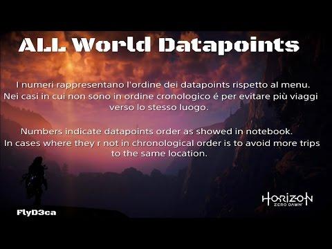 Horizon Zero Dawn all world Datapoints locations