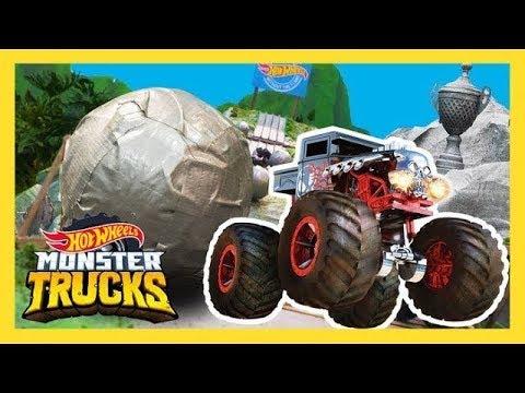 НА MONSTER TRUCKS ОБРУШИЛИСЬ ГИГАНТСКИЕ ВАЛУНЫ!   Monster Trucks   Hot Wheels