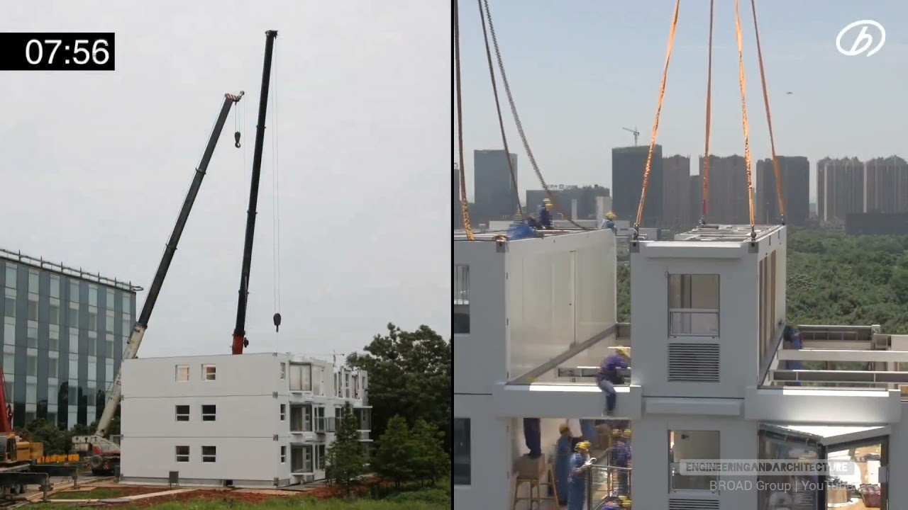10-storey building constructed in 28 hours in China