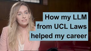 How my LLM from UCL Laws helped my career