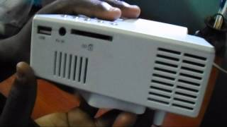 unboxing of the uc28 multimedia led projector av vga usb sd hdmi home cinema theater