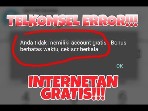 WOW!!! PAKET TELKOMSEL ERROR INTERNETAN GRATISSS.