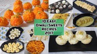 10 Easy Diwali Sweets Recipes 2017 - १० आसान दिवाली मिठाई की  रेसिपी  - Priya R - MOIR