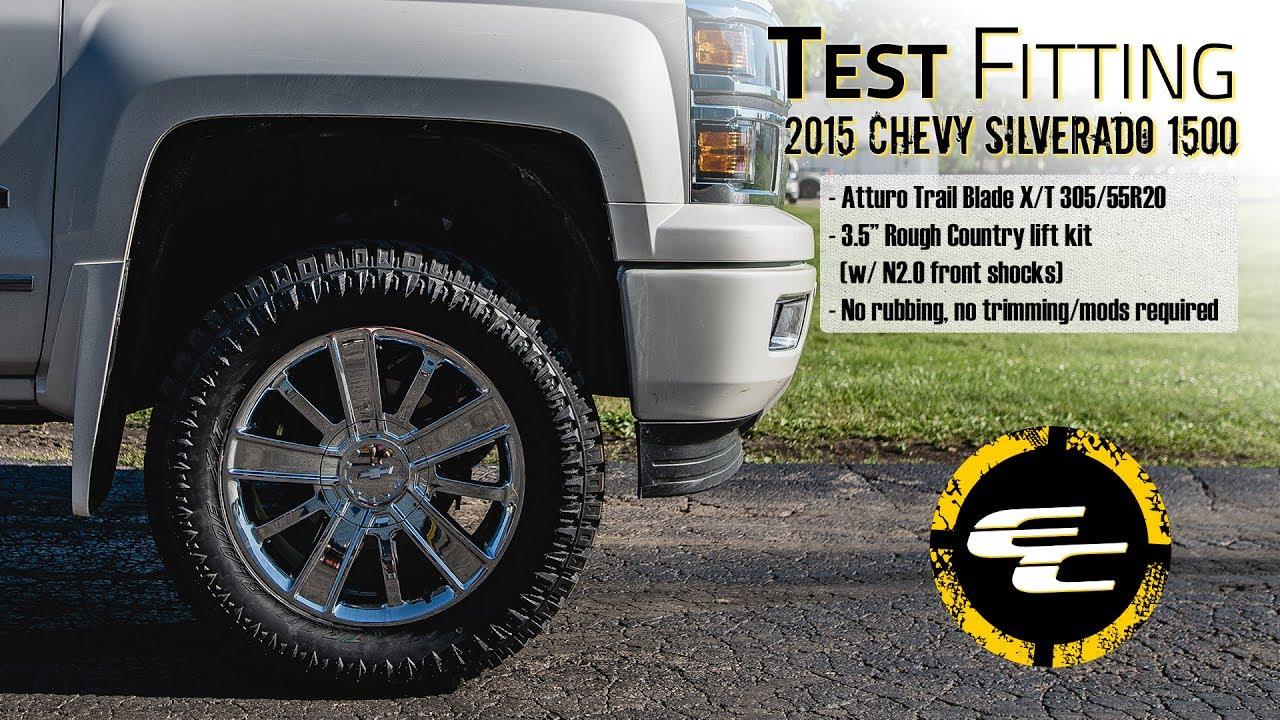 Test Fitting Lifted 2015 Chevy Silverado 1500 W Rough