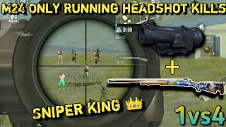 Фото M24 Only Running Headshot | Sniper King 👑 | Fastest Sniping | Pubg Mobile Lite
