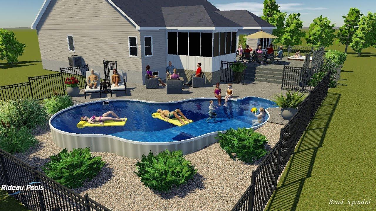 15 X 30 Semi Inground Pool By Rideau Pools Ottawa Youtube