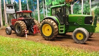 Rc TRACTOR PULLING BATTLE - John Deere/ IHC & Case IH farm machinery in action