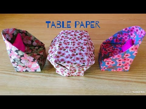 How to make a Paper Table l Easyl DIY lOrigami By yanin Craft