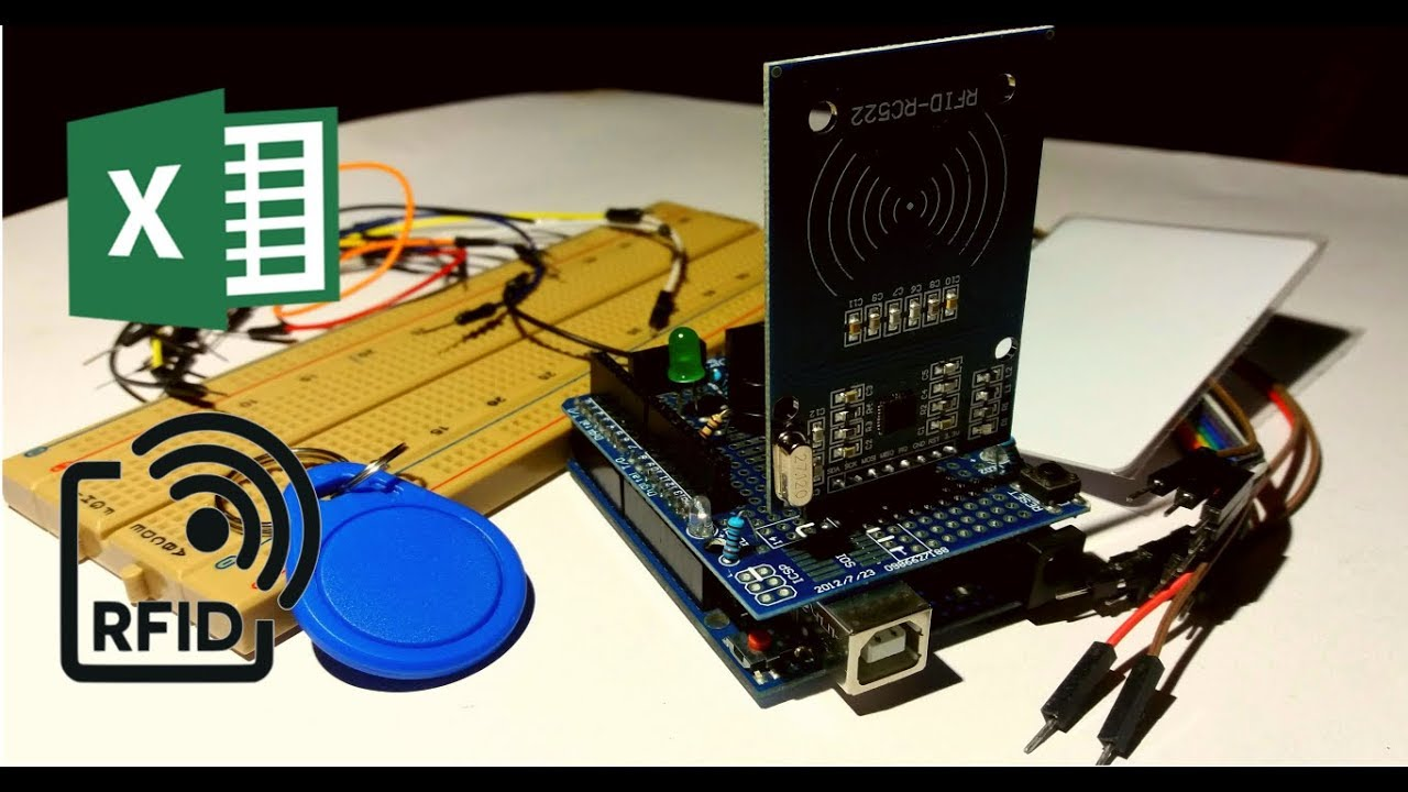 RFID-RC522 with Excel using Arduino (As a attendance system)