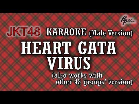 JKT48 - Heart Gata Virus KARAOKE (Male Version)