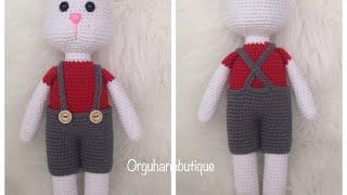 Amigurumi oyuncaklar için askılı pantolon yapımı