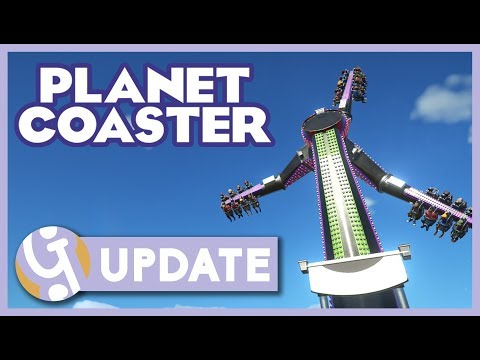 😲 New Ride! Planet Coaster May Update 1.2.3