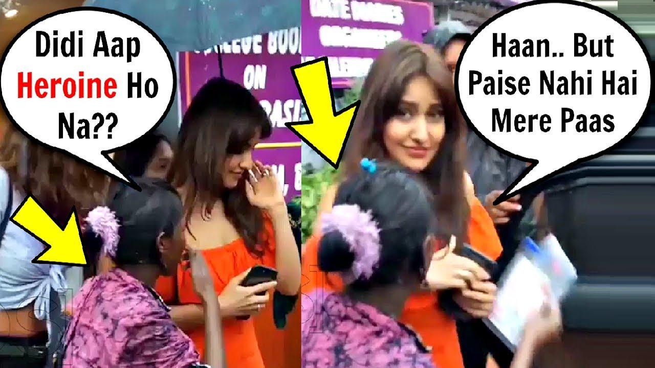 Neha Sharma Rude Behaviour With Beggar