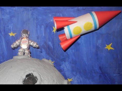 Поделка ко дню космонавтики. Делаем космонавта.  Do astronaut.