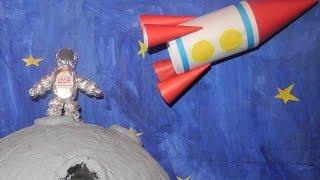 Поделка ко дню космонавтики. Делаем космонавта.  Do astronaut.(, 2016-04-06T03:26:55.000Z)