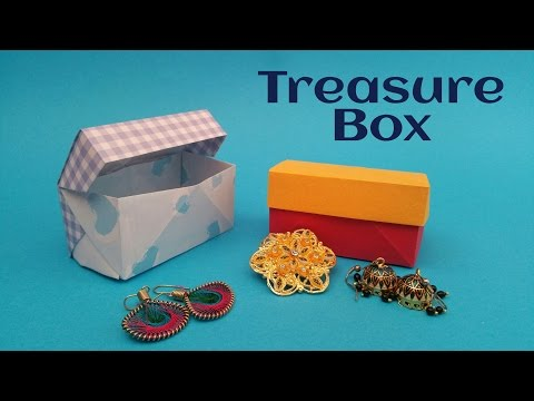 "How to fold / make a Paper ""Treasure / Jewelry Box"" - Useful Modular Origami Tutorial"