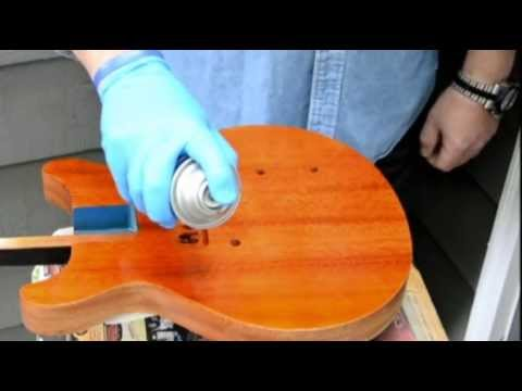 How to Apply a Vintage, Two-Tone Sunburst finish using Spray Cans! Part 3-Spraying the Amber Coat