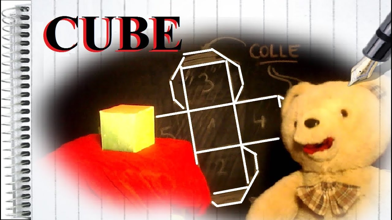 comment faire un gabarit pour fabriquer un cube en carton bricolage ludique youtube. Black Bedroom Furniture Sets. Home Design Ideas