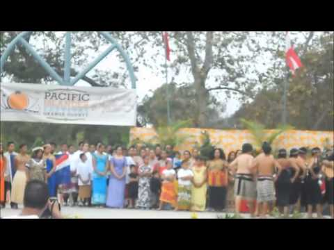 2014 PIFOC - Opening Ceremony - Representing the Islands of New Zealand