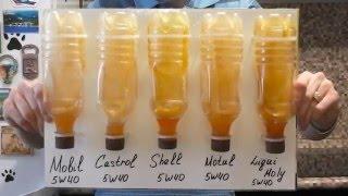 Тест моторных масел 5W40 на морозоустойчивость