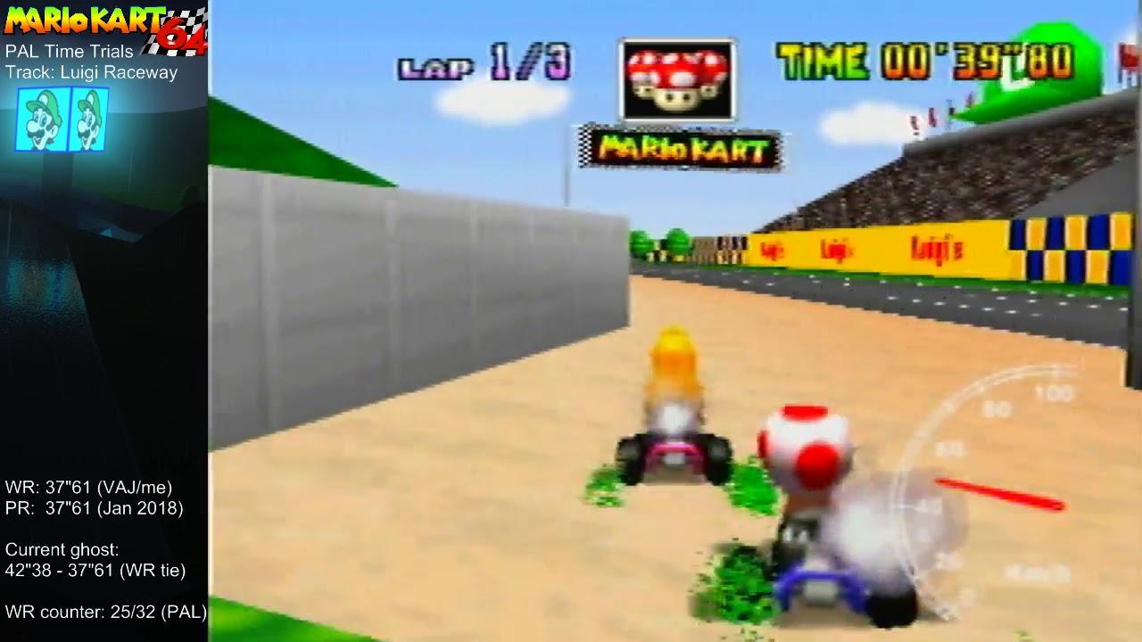 Mario Kart 64 World Record On Luigi Raceway 37 59 Ntsc 31 26