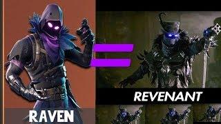 """""""RAVEN"""" New FORTNITE skin based on REVENANT (PARAGON)"""