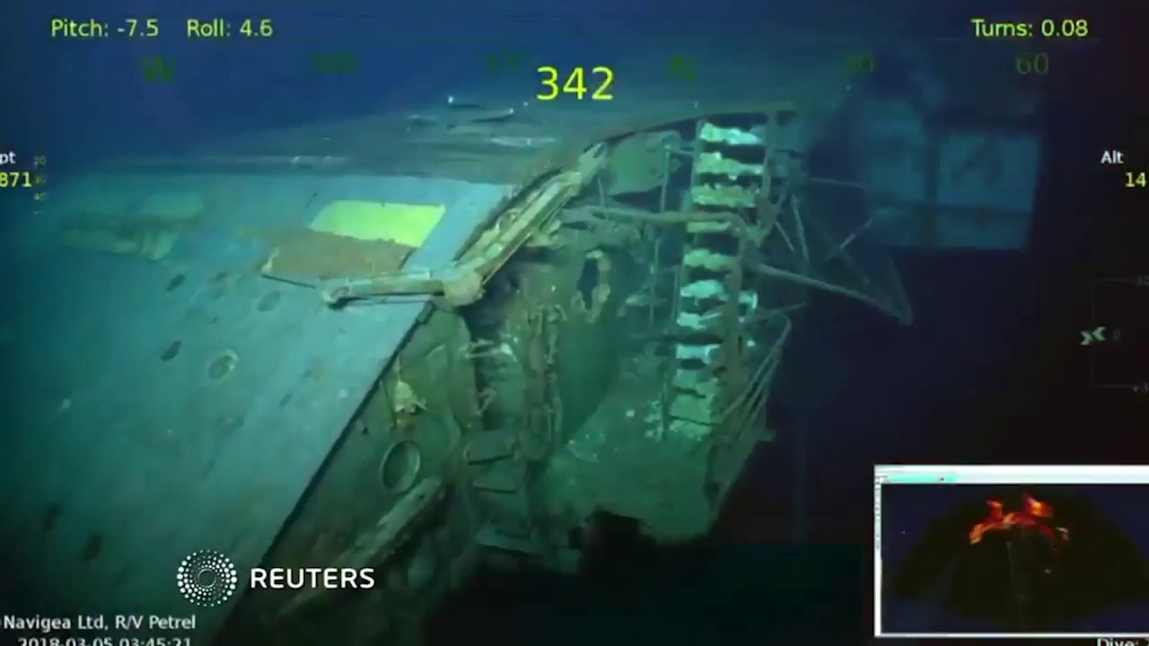 Aircraft carrier sunk in WWII discovered at bottom of Coral Sea