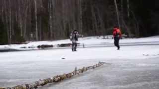 2. Рыбалка, щука, Кенозеро 2014.(Рыбалка, ловля щуки на жерлицы, Кенозерский национальный парк, март 2014г., 2014-03-31T17:02:32.000Z)