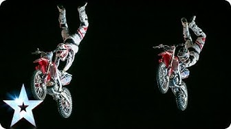 Night riders! Bold Dog FMX Team motorcycle stunts | Britain's Got Talent 2014