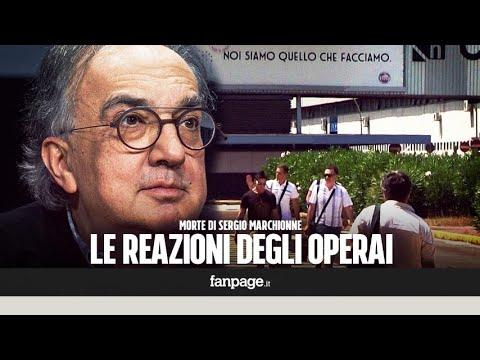 Le reazioni degli operai della Fca di Pomigliano alla morte di Marchionne