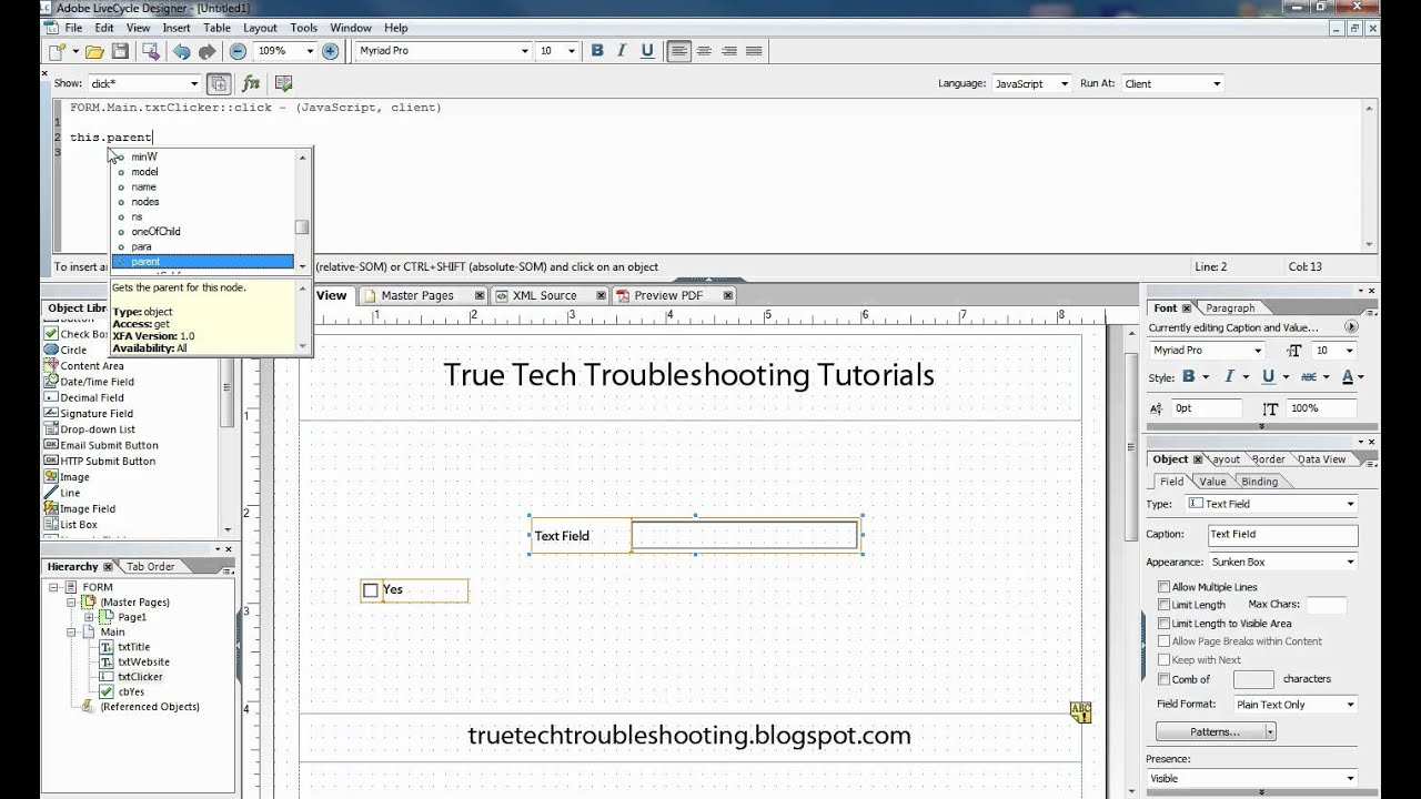 Script Editor Basics in Adobe LiveCycle ® - YouTube