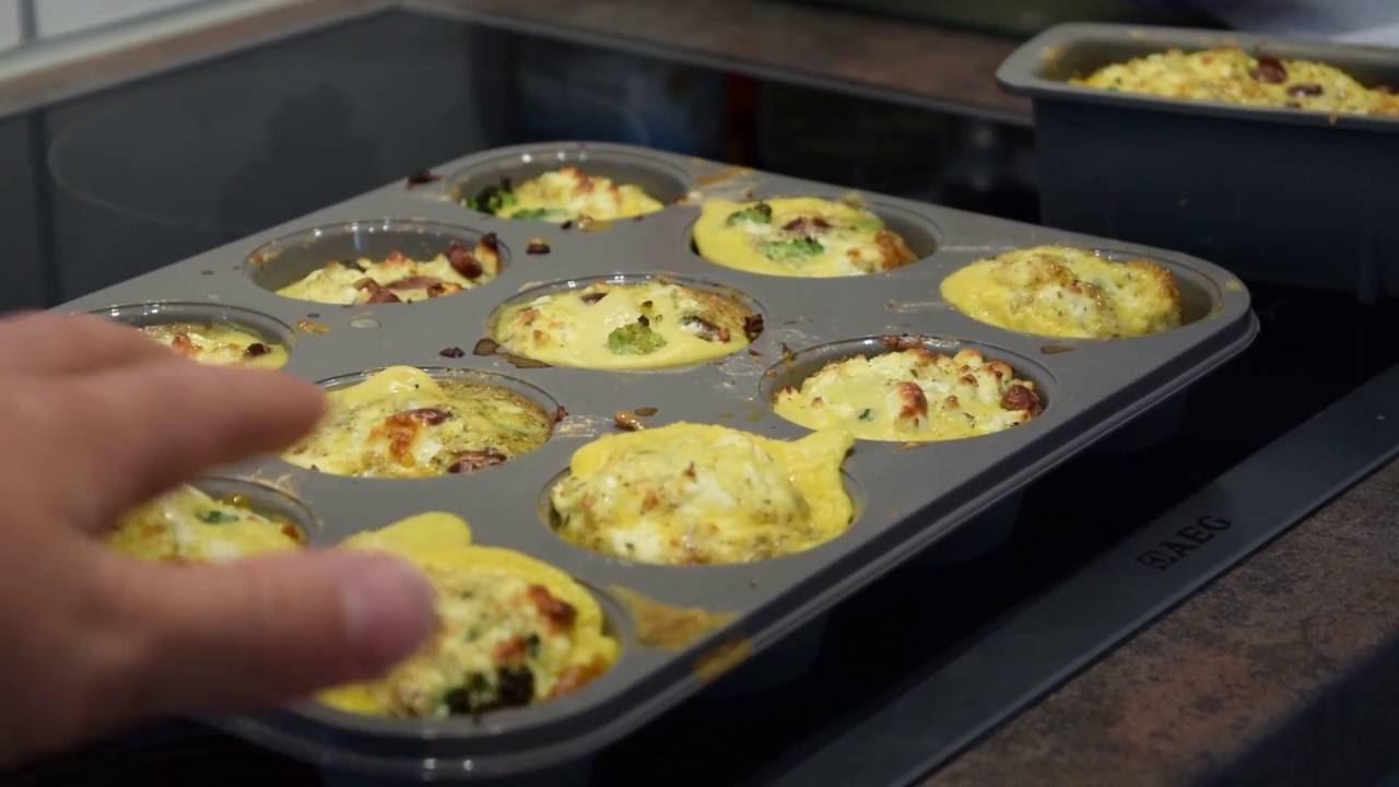 schnelle gesunde küche #16 - eiermuffin mit feta und wachtelbohnen ... - Gesunde Schnelle Küche