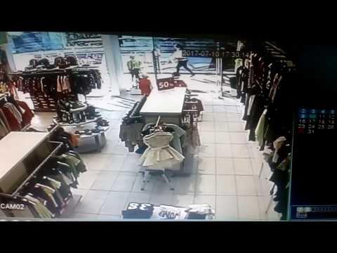 РИО Дмитровка пожар, запись с камеры видио наблюдения из магазина