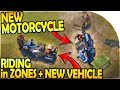 NEW MOTORCYCLE GAMEPLAY (NEW VEHICLE + RIDING in ZONES) - Last Day on Earth Survival Update 1.10.2