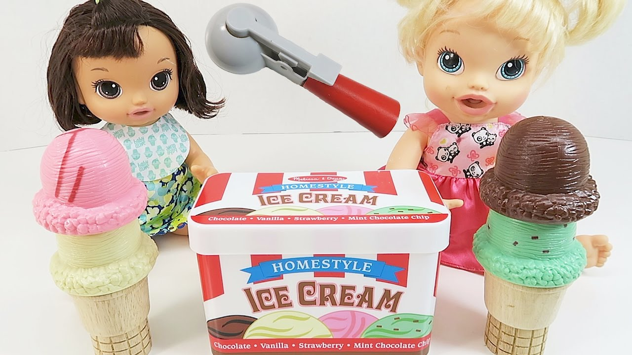 Ice Cream Cone Toy Playset Learn Colors With Ice Cream
