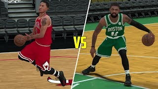 MVP Derrick Rose Vs Kyrie Irving! NBA 2K18 Challenge Gameplay!