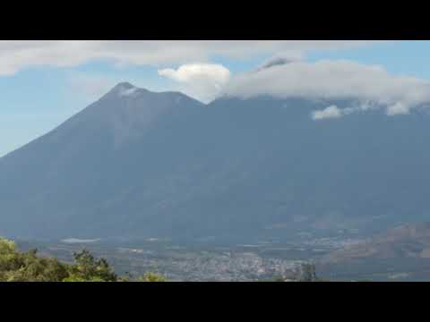 Vista near top of 1,600' climb in El Paraíso Azul Farm, Antigua, Guatemala, 2018-01-18