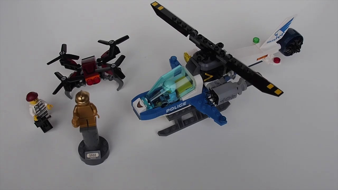 Lego City 60207 Sky Police Drone Chase Review Youtube
