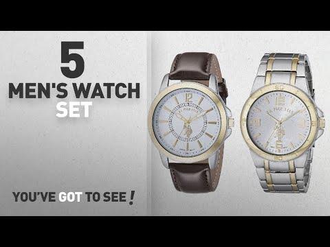 Top 10 Men's Watch Set [2018]: U.S. Polo Assn. Classic Men's USC2254 Set Of Two Two-Tone Watches