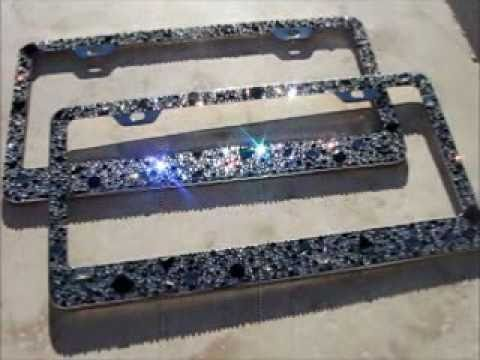 icy couture old hollywood glam crystal license plate frame